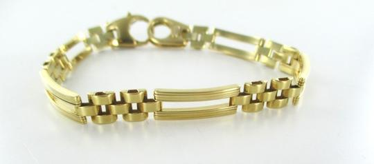 Milor 18KT SOLID YELLOW GOLD BRACELET CURVED DESIGN LINK HALLMARK ITALY MILOR JEWELRY