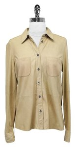 Equipment Suede Button Down Shirt Nude