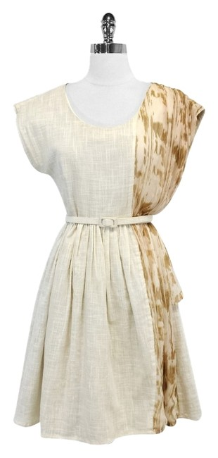 Preload https://img-static.tradesy.com/item/3783361/lorick-ivory-linen-print-knee-length-short-casual-dress-size-2-xs-0-0-650-650.jpg