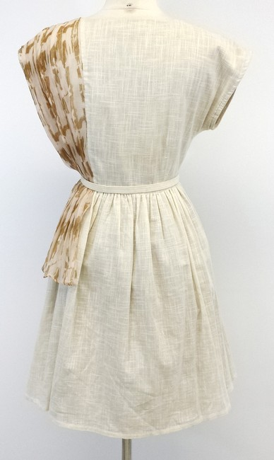 Lorick short dress Ivory Linen Print on Tradesy