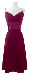 Alfred Angelo Berry Crepe / Satin Style 7057 Casual Bridesmaid/Mob Dress Size 12 (L)