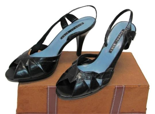 Gianni Bini Great Condition Leather Size 9 black Platforms
