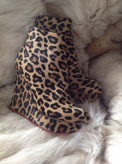 Charlotte Olympia Leopard Print Boots