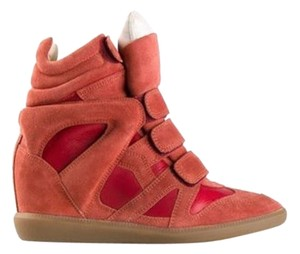 Isabel Marant Red Wedges