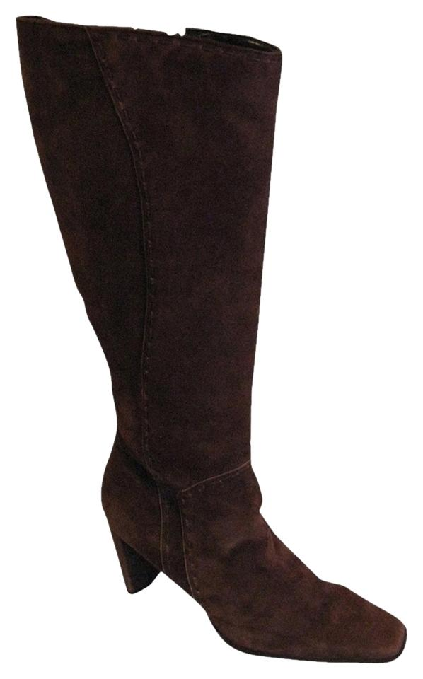 Enzo Boots/Booties Angiolini Brown Suede Zip Boots/Booties Enzo 18e8da