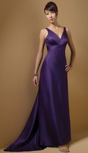 Alfred Angelo Eggplant Style 7045 Dress