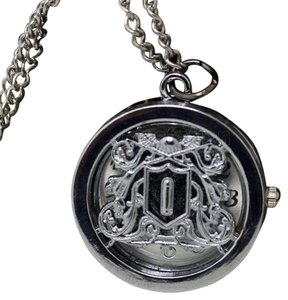 Silver Quartz Sweater Necklace Watch Free Shipping