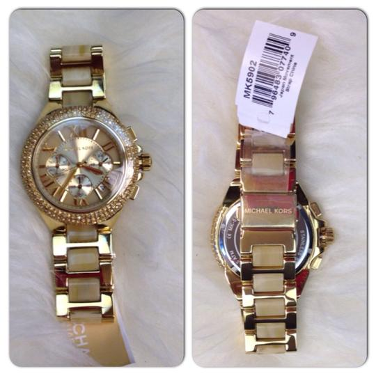 MICHAEL Michael Kors Michael Kors Camille Horn Crystal Pave Watch