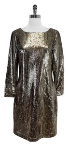 Elie Tahari Snake Print Sequin Dress