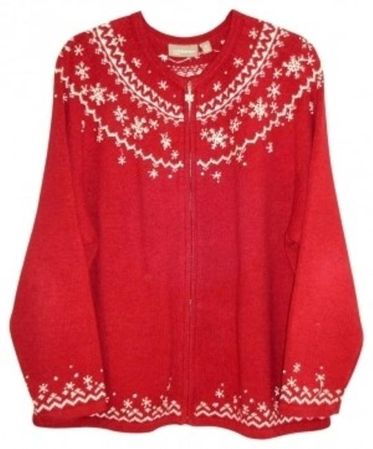 Preload https://item5.tradesy.com/images/croft-and-barrow-redwhite-snowflake-cardigan-size-22-plus-2x-37839-0-0.jpg?width=400&height=650