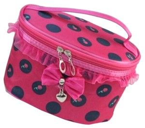 Other Cute Pink Ruffled Bow Heart and Cherry Cosmetic Bag Free Shipping