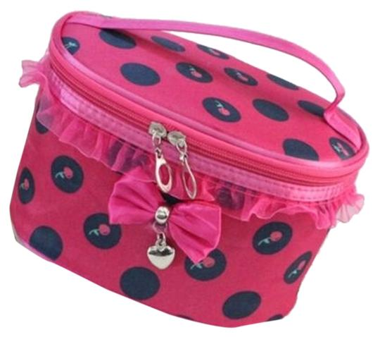 Preload https://item5.tradesy.com/images/other-cute-pink-ruffled-bow-heart-and-cherry-cosmetic-bag-free-shipping-3783919-0-0.jpg?width=440&height=440