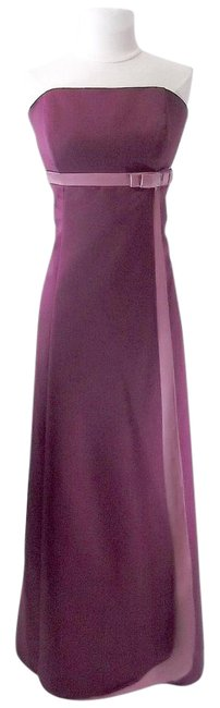 Alfred Angelo Berry / Sugar Plum Satin Style 6553 Formal Bridesmaid/Mob Dress Size 12 (L) Alfred Angelo Berry / Sugar Plum Satin Style 6553 Formal Bridesmaid/Mob Dress Size 12 (L) Image 1