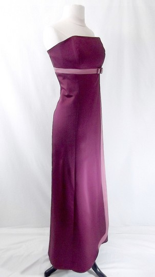 Alfred Angelo Berry / Sugar Plum Satin Style 6553 Formal Bridesmaid/Mob Dress Size 12 (L)