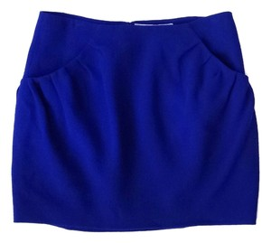 Vera Wang Lavender Label Wool Mini Skirt Cobalt blue