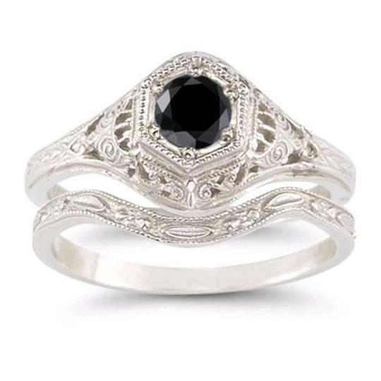 Preload https://item5.tradesy.com/images/apples-of-gold-black-diamond-ring-in-925-sterling-silver-women-s-wedding-band-set-378399-0-0.jpg?width=440&height=440