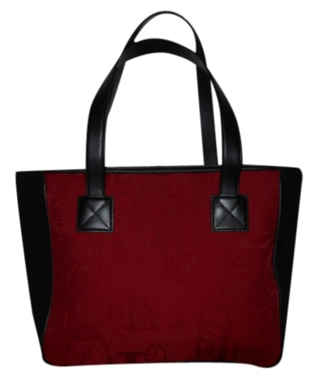 Preload https://item1.tradesy.com/images/ralph-lauren-red-and-black-fabric-with-leather-trim-tote-3784060-0-0.jpg?width=440&height=440