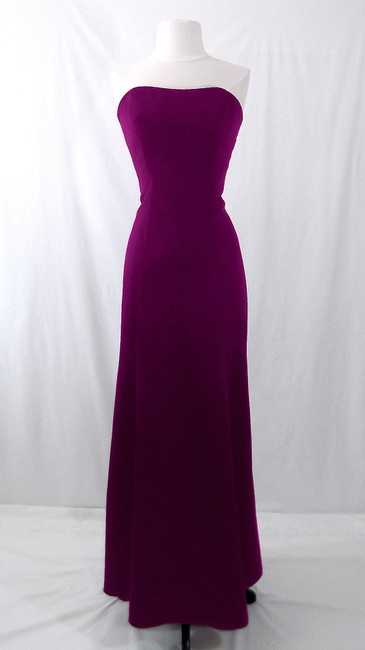 Alfred Angelo Grape Satin Style 7055 Formal Bridesmaid/Mob Dress Size 6 (S) Alfred Angelo Grape Satin Style 7055 Formal Bridesmaid/Mob Dress Size 6 (S) Image 1
