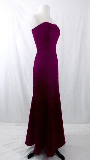 Alfred Angelo Grape Satin Style 7055 Formal Bridesmaid/Mob Dress Size 6 (S)