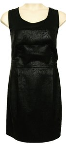 DKNY short dress Black & Pewter Faux on Tradesy