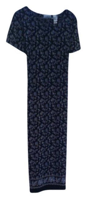 Preload https://img-static.tradesy.com/item/378418/navy-with-white-and-blue-print-easy-care-washable-mid-calf-wrinkle-free-mid-length-workoffice-dress-0-0-650-650.jpg