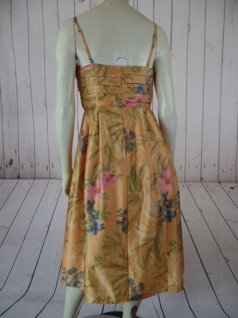 James Coviello New With Tags Cocktail Size 6 Polyester Wedding Spring Fling Bridesmaid Adjustable Straps Lined Retro Dress