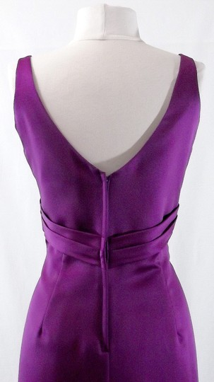 Alfred Angelo Violet Satin Style 7069 Formal Bridesmaid/Mob Dress Size 8 (M)