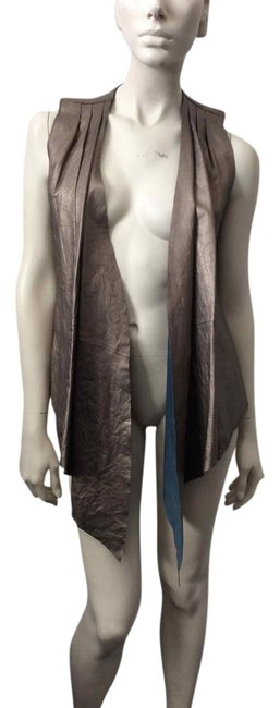 Preload https://item3.tradesy.com/images/catherine-malandrino-pewter-vest-size-2-xs-3784552-0-0.jpg?width=400&height=650