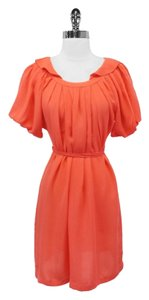 Ali Ro short dress Coral Silk Tie Waist on Tradesy