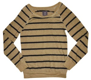 Forever 21 Slouchy Oversized Boatneck Stripes Sweater