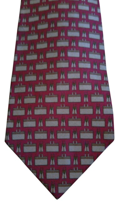 Coach Red Silk Necktie Coach Red Silk Necktie Image 1