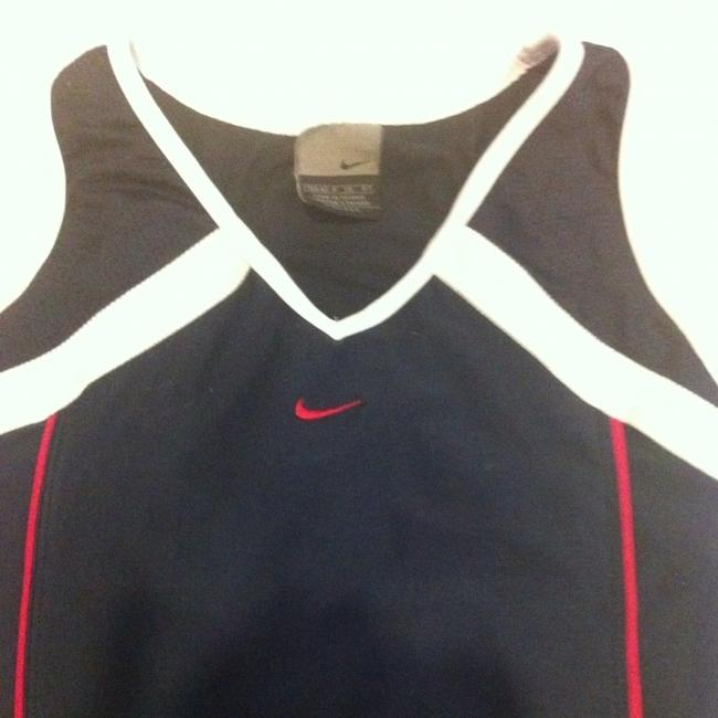 Nike Racer Back Dri Fit Navy White Pink Top Tank S 4 6 Small