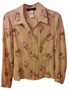 Jones New York #silk Top Cream/Brown