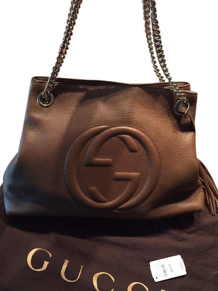72d4f0c1fb1 Gucci Soho With Chain Maple Brown Leather Shoulder Bag - Tradesy