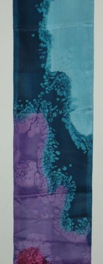 Other New Without Tags Vintage 1990 Hand Painted Silk Scarf
