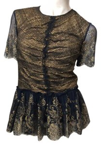 Marchesa Voyage Top Black, gold