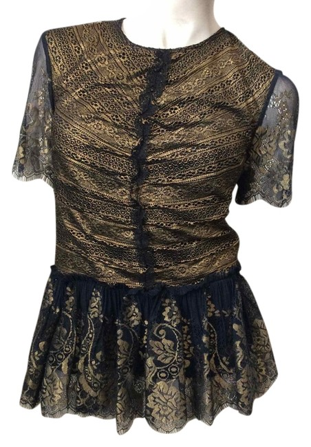 Preload https://img-static.tradesy.com/item/3785101/marchesa-voyage-black-gold-lace-blouse-size-2-xs-0-0-650-650.jpg