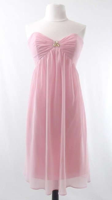 Alfred Angelo Tea Rose Chiffon Style 7066 Casual Bridesmaid/Mob Dress Size 10 (M) Alfred Angelo Tea Rose Chiffon Style 7066 Casual Bridesmaid/Mob Dress Size 10 (M) Image 1