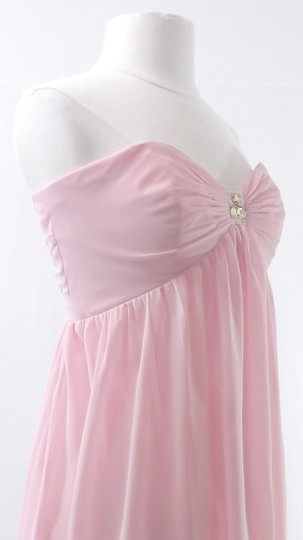 Alfred Angelo Tea Rose Chiffon Style 7066 Casual Bridesmaid/Mob Dress Size 10 (M)