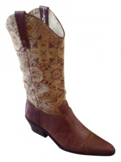 Preload https://item3.tradesy.com/images/j-jill-brown-leathertapestry-bootsbooties-size-us-9-regular-m-b-37852-0-0.jpg?width=440&height=440