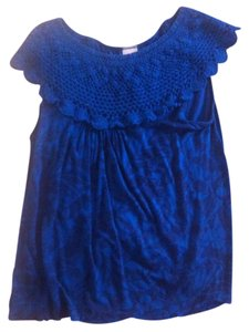 Language Knit Losangeles Top Blue