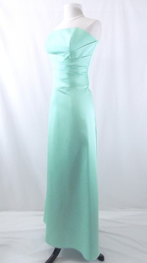 Alfred Angelo Sea Foam Satin Style 6333 Formal Bridesmaid/Mob Dress Size 10 (M)
