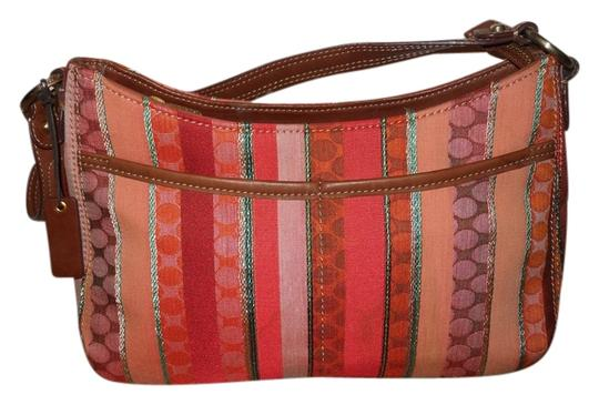 Preload https://img-static.tradesy.com/item/3785353/liz-claiborne-tan-multi-fabric-and-leather-trim-shoulder-bag-0-0-540-540.jpg