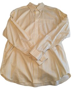 Brooks Brothers Mens Dress Shirt Mens Mens Dress Mens Button Down Shirt Yellow & White