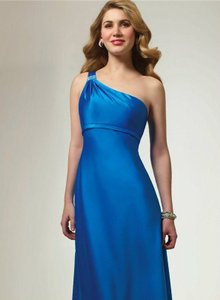 Alfred Angelo Riviera Sky Satin Style 7068 Formal Bridesmaid/Mob Dress Size 6 (S)