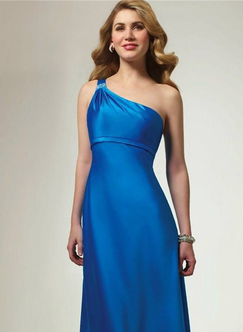 Alfred Angelo Riviera Sky Satin Style 7068 Formal Bridesmaid/Mob Dress Size 6 (S) Alfred Angelo Riviera Sky Satin Style 7068 Formal Bridesmaid/Mob Dress Size 6 (S) Image 1
