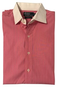 Polo Ralph Lauren Mens Mens Dress Shirt Mens Mens Dress Button Down Shirt Pink & White