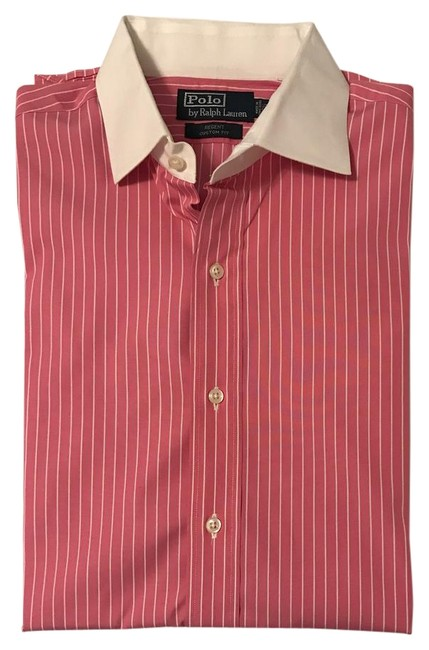 Preload https://img-static.tradesy.com/item/3785434/polo-ralph-lauren-pink-and-white-mens-dress-shirt-button-down-top-size-14-l-0-2-650-650.jpg
