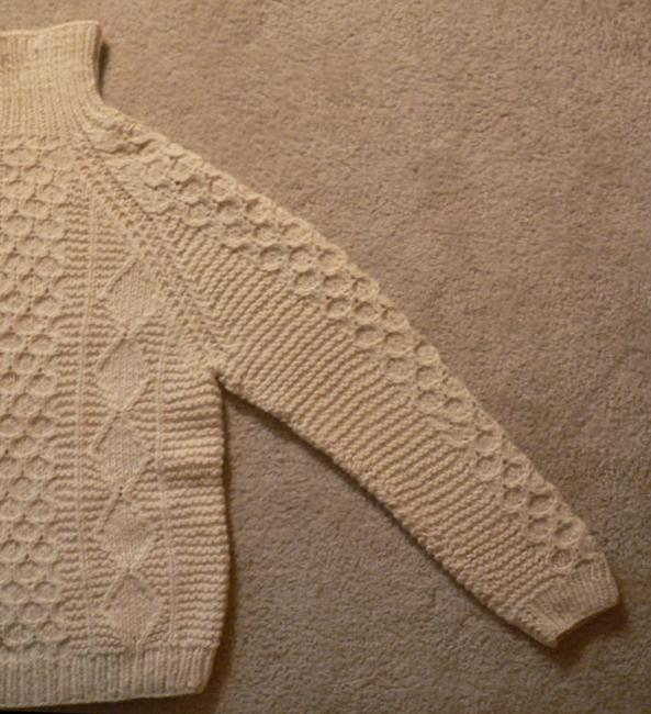 Other Hand Knit Wool Mykonos Greece Fisherman Style 1967 Sweater
