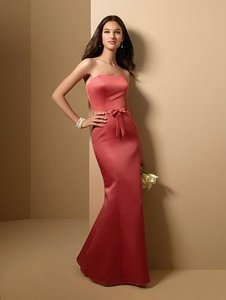 Alfred Angelo Spice Satin Style 7011 Formal Bridesmaid/Mob Dress Size 12 (L)